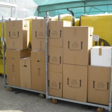 Despatch in bespoke recyclable boxes